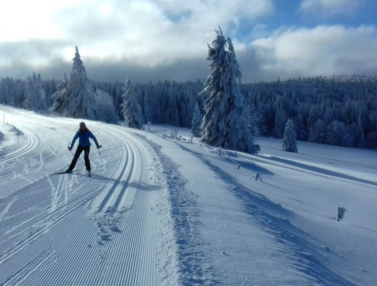 camping neige Vosges