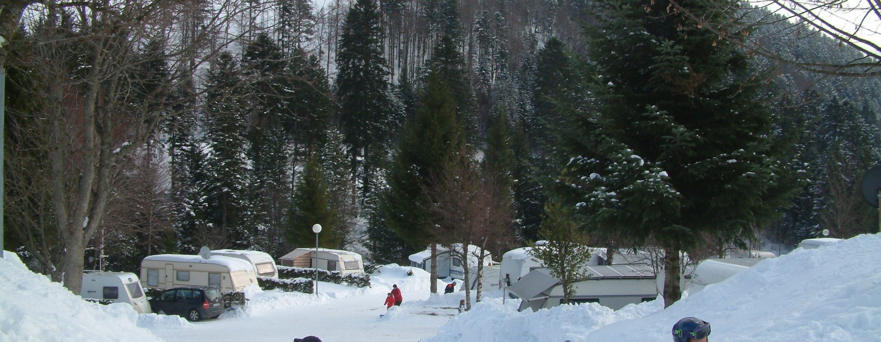camping hiver Belle Hutte